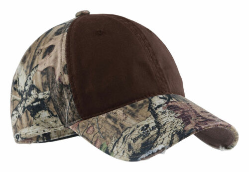Port Authority Ball Cap C807 Adult Camo Cap with Contrast Front Panel NEW