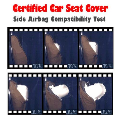 All Black Mesh Seat Covers Full Set For Toyota Tacoma 4Runner TRD Sports