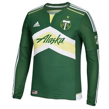 6248152f8 adidas Portland Timbers Green 2015 Primary Authentic Long Sleeve Jersey XL