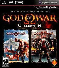 GOD OF WAR 1 & 2 2009 Playstation 3 game collection (greatest Hits) Complete vg