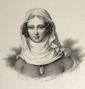 Incisione Ritratto Bichomme Del C.Conquy Scolpire 1836