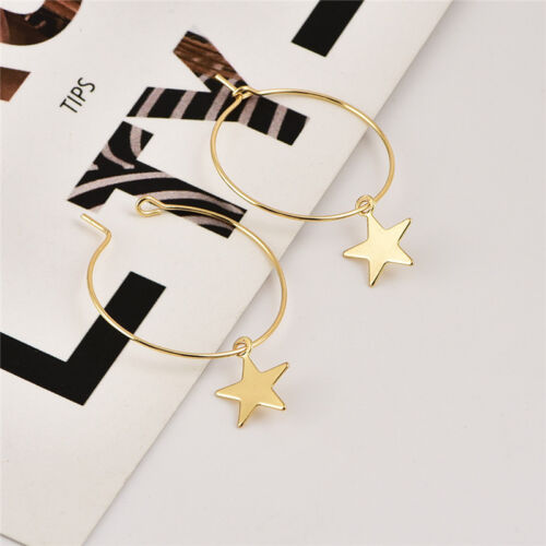 2019 Fashion Large Circle Geometry Metal Earring Ear Stud Earrings Women Jewelry