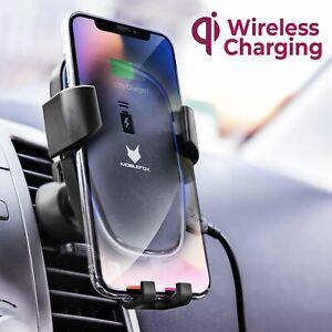 Mobilefox-Universal-Qi-Wireless-Halter-Lueftung-Auto-Handy-Halterung-Induktiv-KFZ