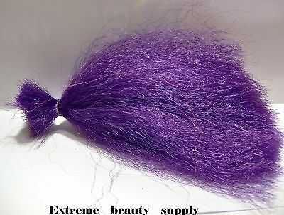Supreme  Synthetic fly fishing tying hair flies fish jig tie COLOR  PURPLE