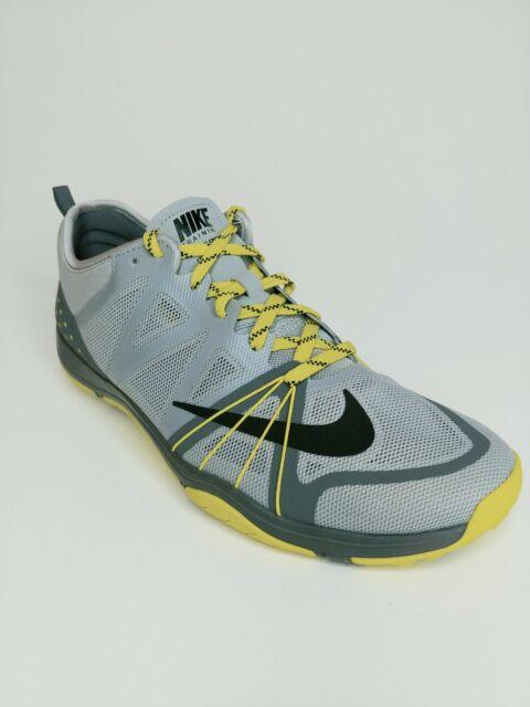 Nike Free Cross Complete Womens running shoe sz 9 Grey yellow sneaker 749421 008