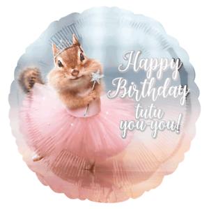 Joyeux Anniversaire Mignon Ballerine Animal Tutu Foil Ballon Fête D/'Anniversaire Décoration