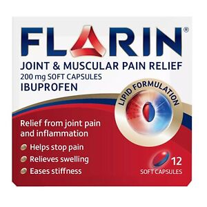 Flarin-Joint-amp-Muscular-Pain-Relief-200mg-12-Lipid-Soft-Capsules
