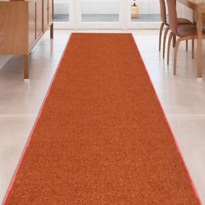 Image Is Loading Custom Size Burnt Orange Stair Hallway Runner Rug