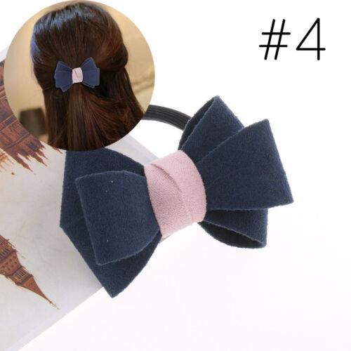 T2D1 Damen Schleife Haargummi Haarband Pfersschwanz Zopf-Halter Bow 8 Farbe