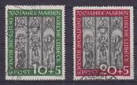Bund Mi Nr. 139 - 140, gest., 700 Jahre Marienkirche Lübeck 1951, used