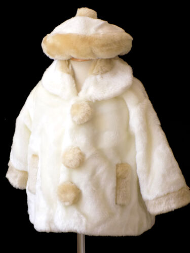 Infant,Toddler Girl/'s Christmas Fall Winter Faux Fur Jacket 12 Month to 5