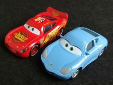 Lot of 2 Disney Pixar Cars Lightning McQueen & Sally Lover Couple 1/55 Diecast