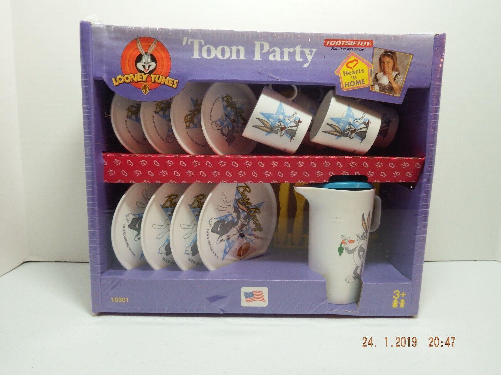 Looney Tunes Toon Party Tea Set 1997 Rare