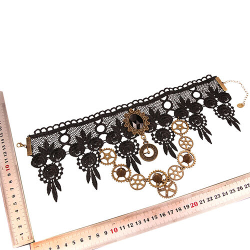 Vintage Lace Gothic Steampunk Collar Choker Pendant Necklace Charm Jewelry Gift*