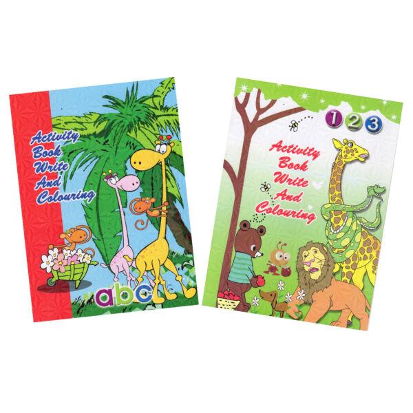 Attività Educativa Libro Bambini 3 4 Anni Alfabeto Numeri Scrittura, Calcolo Conteggio Rimozione Dell'Ostruzione