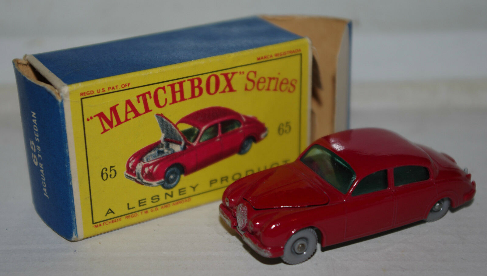 Matchbox lesney jaguar zahl box 65 toy cars   02