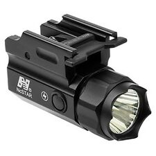 NcStar ACQPTF 3W 150 Lumen LED Flashlight QR Quick Release Mount with Strobe