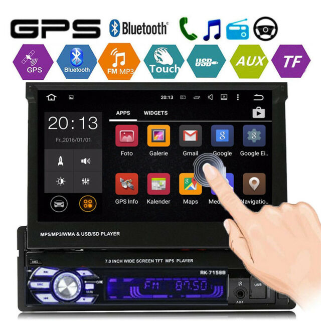 "2 Din 7/"" HD Car FM MP5 Player Touch Screen Stereo FM Radio BT GPS w// Free EU Map"