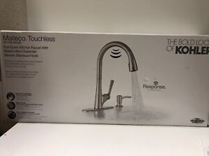 Image Is Loading New Kohler Malleco Touchless Pulldown Kitchen Faucet Soap