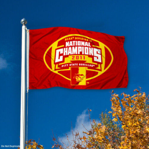 Pittsburg State 2011 DII Football Champs Flag and Banner