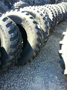 TWO-New-380-70R24-Radial-John-Deere-Ford-Turf-amp-Field-Lug-Tractor-Tires