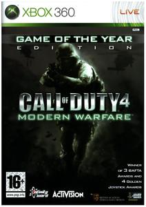 Xbox-360-Call-of-Duty-4-MODERN-WARFARE-GIOCO-DELL-039-ANNO-EDIZIONE-cod-nuovi-sigillati