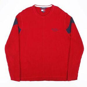 Tommy Hilfiger Jeans Rot 00s Rundhals Pullover Herren XL