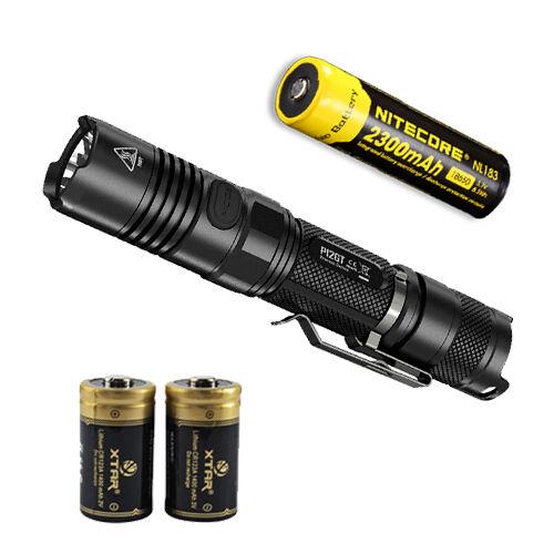 Nitecore P12GT Flashlight w/ NL183 Battery & 2 CR123A Premium CR123A 2 Batteries 416763