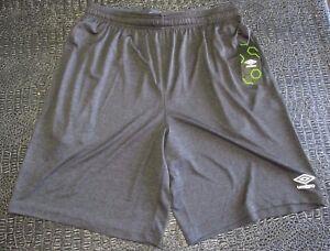 New-Men-039-s-Umbro-Grey-Soccer-Athletic-Basektball-Sports-Shorts-Size-L-Large-NWT