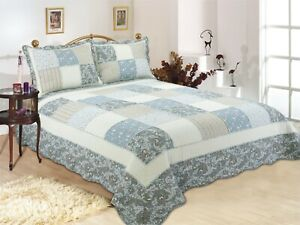 Coverlet Quilt 100/% Cotton No Polyester Super King 265x285 Apricot BedSpread
