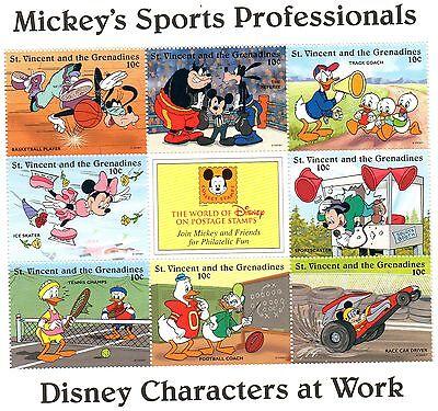 Stetig Block Briefmarken Walt Disney Mickey Sportarten Zeichentrickfiguren & Disney Briefmarken St Vincent Und Die Grenadinen