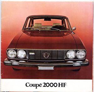 Lancia-2000-Coupe-HF-1972-75-UK-Market-Multilingual-Sales-Brochure-Flavia