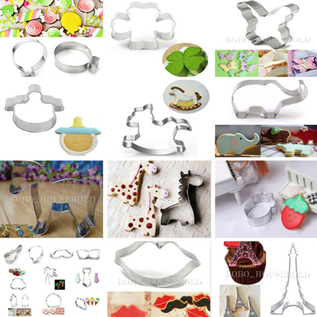 New Stainless Steel Baking Cake Cookie Fondant Biscuit Pastry Cutter Mold Tools