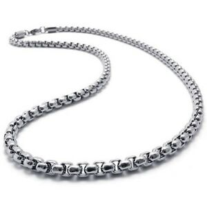 2mm 5mm 16 40 Silver Stainless Steel Square Rolo Necklace Chain HN9 USA Seller /2512984