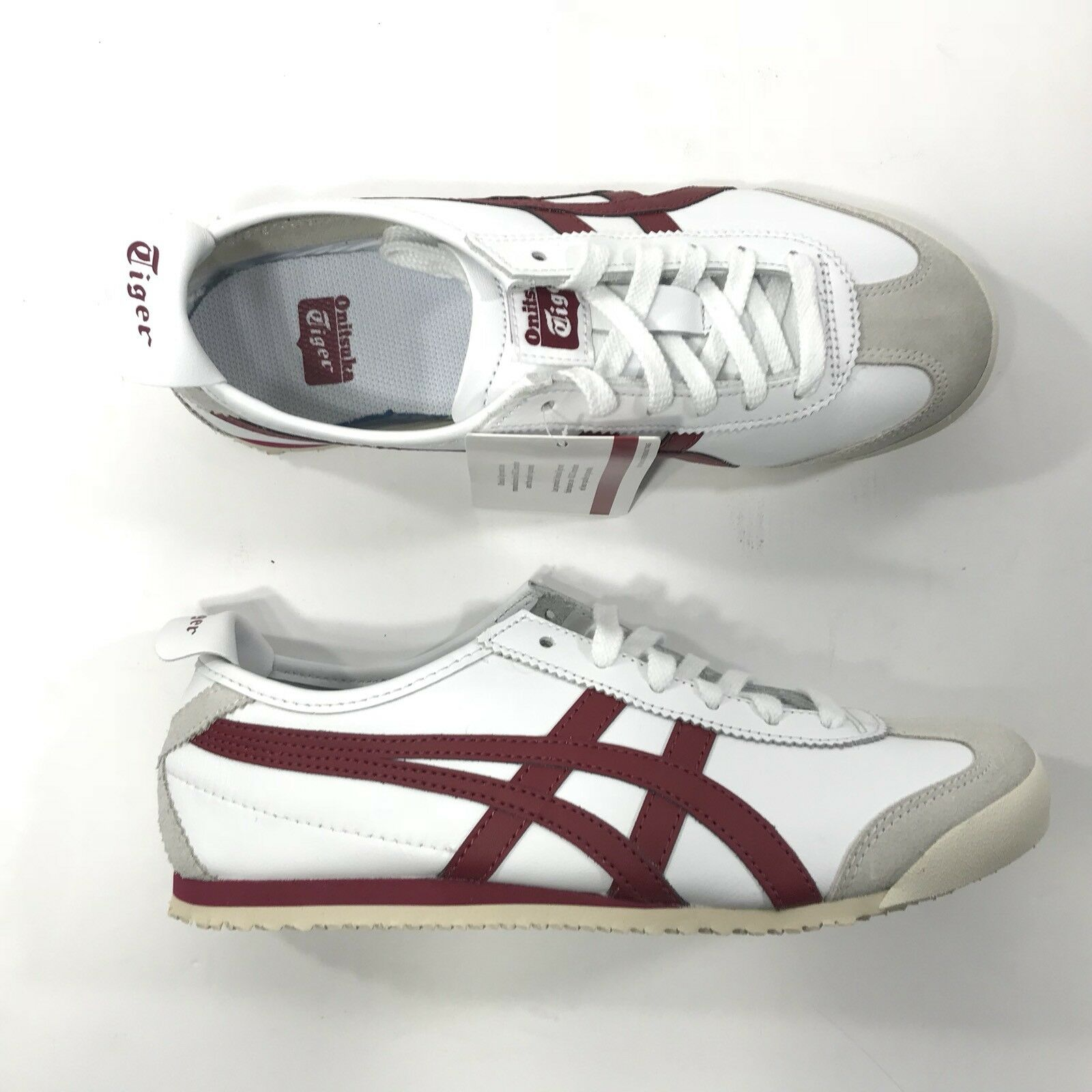 Asics Mens Onitsuka Shoes Tiger Mexico 66 White Red Retro Shoes Onitsuka 6 Y0106 b68151