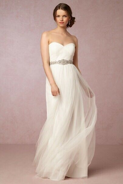 Anthropologie BHLDN Jenny Too Anabelle Dress Size:10 Ivory New