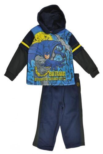 Batman Toddler Boys Pull Over Hoodie 2pc Sweat Suit Set Size 2T 3T $25.99