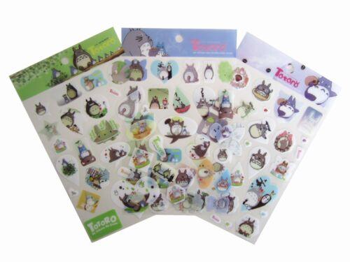 Studio Ghibli My Neighbour Totoro Stickers Scrapbook Diary Book Decoration 3PCS