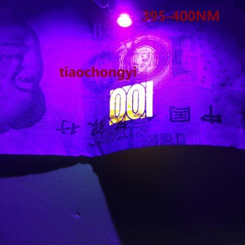 3W High Power UV ultraviolet 365nm 375nm 385nm 395nm Black LED Lamp Light Diode