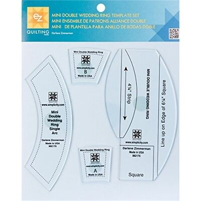 Ez Quilting Double Wedding Ring Template-3//pkg