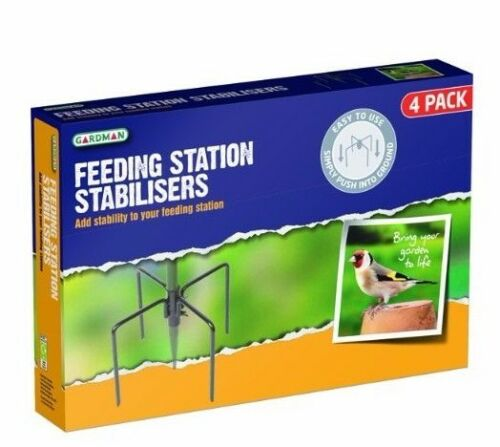 Gardman Garden Wild Birds Feeding Station Stabilisers Feet Spikes Black A04387