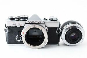Olympus-om-2n-SLR-35mm-Filmkamera-mit-50mm-f-3-5-Lens-aus-Japan-EXC