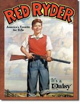 Daisy Red Ryder Boy Tin Sign Vintage Bb Gun Toy Ad Metal Poster Wall Decor 904