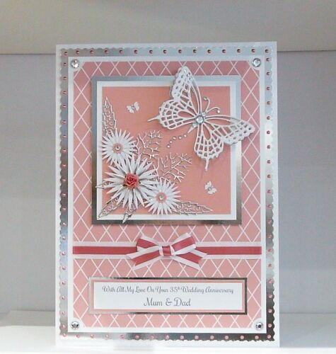 Birthday Card Wife//Mum//Friend//Sister etc Boxed A4 Handmade /& Personalised