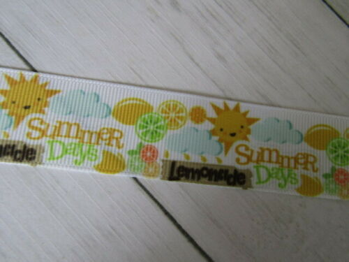 "Crème Glacée Fruit Summer Rainbows Bonbons gros-grain Ribbon Bows Crafts 1/"" 25 mm"