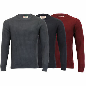 Mens-Knitted-Jumper-Tokyo-Laundry-Ribbed-Sweater-Pullover-Top-Crew-Neck-Winter