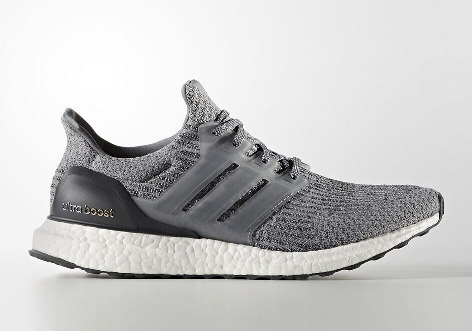 NOW SHIPPING! Adidas Ultra Boost 3.0 Running Shoes Mystery Grey Size 10 BA8849