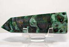 "3.4"" Green Fuchsite Wand Polished Gemstone Tower Mica Quartz Mineral Point Stick"