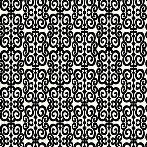 Wallpaper-New-Retro-Mid-Century-Modern-Black-and-White-Scroll