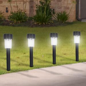 Solar Led Deck Lights Garden Stake Post Grass Border Patio Lawn
